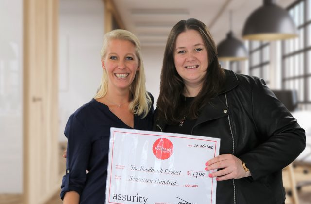 Bringing the future forward with Assurity and the Foodbank Project